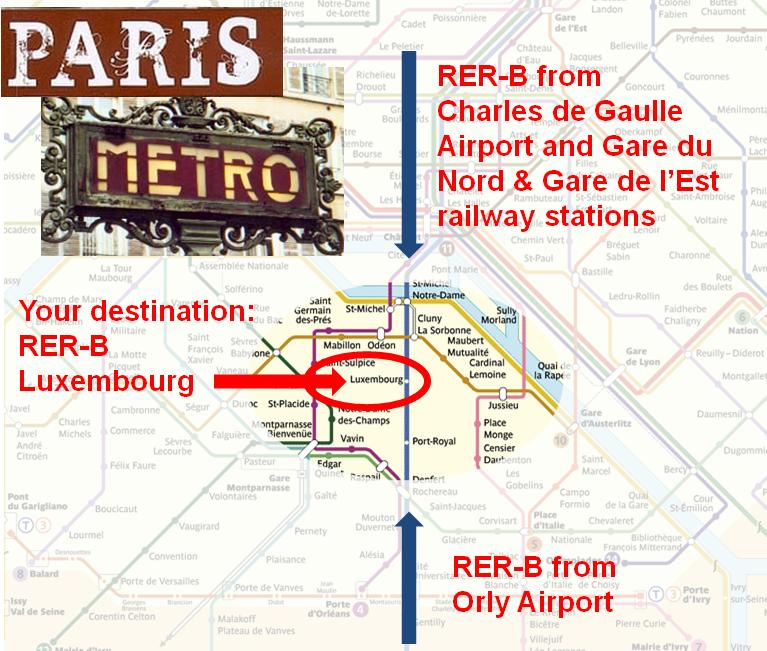 ENSINRIA Summer School Directions - Paris metro station map